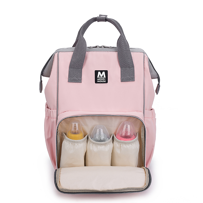 Disney Fashion Mummy Maternity Diaper Bags Backpack Large Capacity Bottle Feeding Storage Waterproof Bag Travel For Baby Care in Diaper Bags from Mother Kids