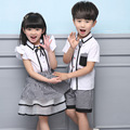 2016 Hot Sale New Summer Dress Uniforms Wholesale Support Custom Garden Boy Girl Dress Set Two Piece British Style Sub