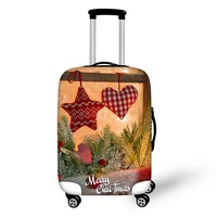 FORUDESIGNS Thick Elastic Luggage Protective Cover With Ziper For 18-28inch Trunk Case Travel Suitcase Cover Christmas Present