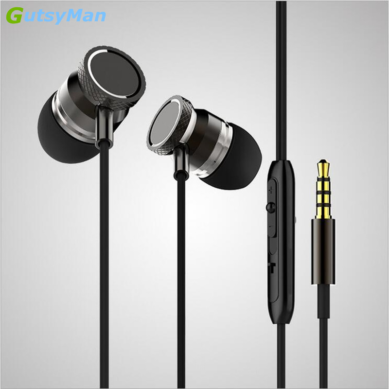 GutsyMan GM15 Super Bass In-ear Earphones Super Clear Metal Noise isolating Earbud For iphone 6 Samsung HTC etc