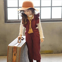 Gevşek bebek Tulumları bebek kız denim jeans Tulumları çocuk çocuk giyim Toddler kız lacivert İlkbahar/Sonbahar pantolon