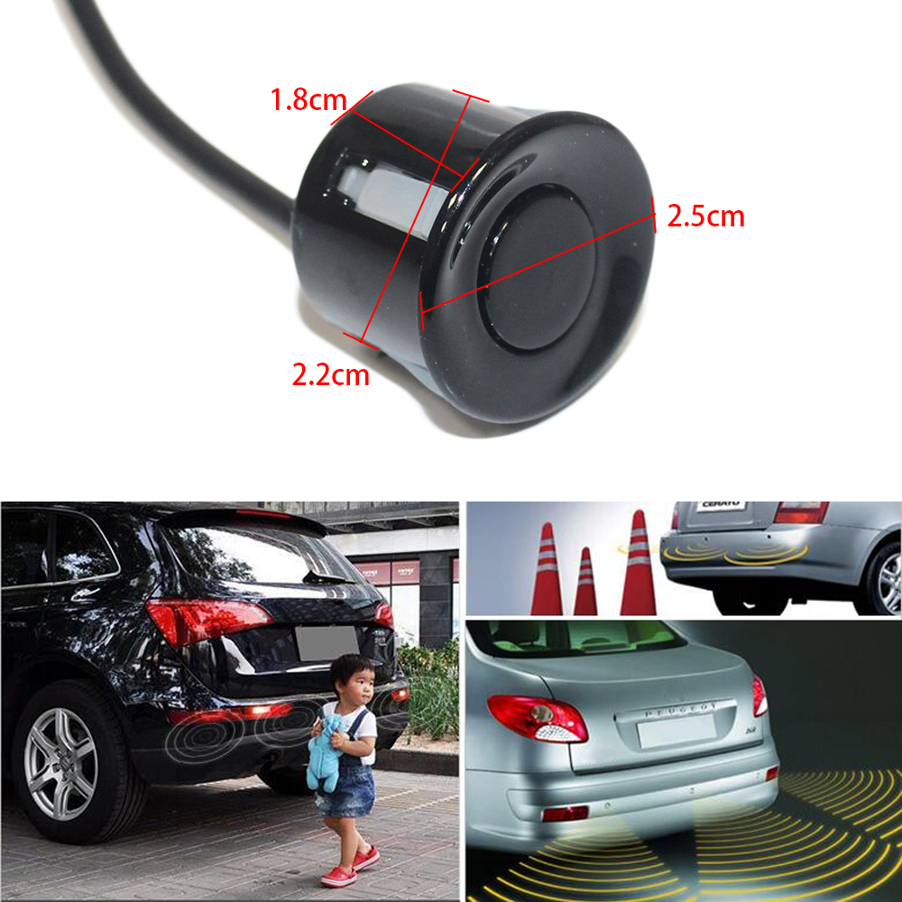 Image 2 - LCD Parking Sensors Display Monitor Rearview Car Parking Assistance Backup Radar System  4 sensors Reverse Radar Car Accessories-in Parking Sensors from Automobiles & Motorcycles