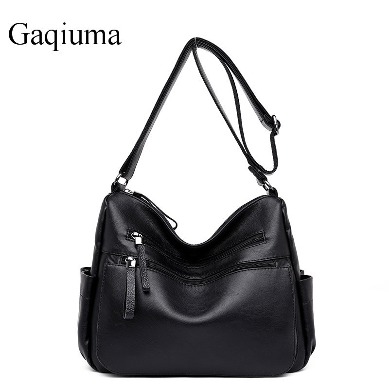 Gaqiuma brand women hand bag shoulder bags female hobos high quality crossbody PU leather tote bag