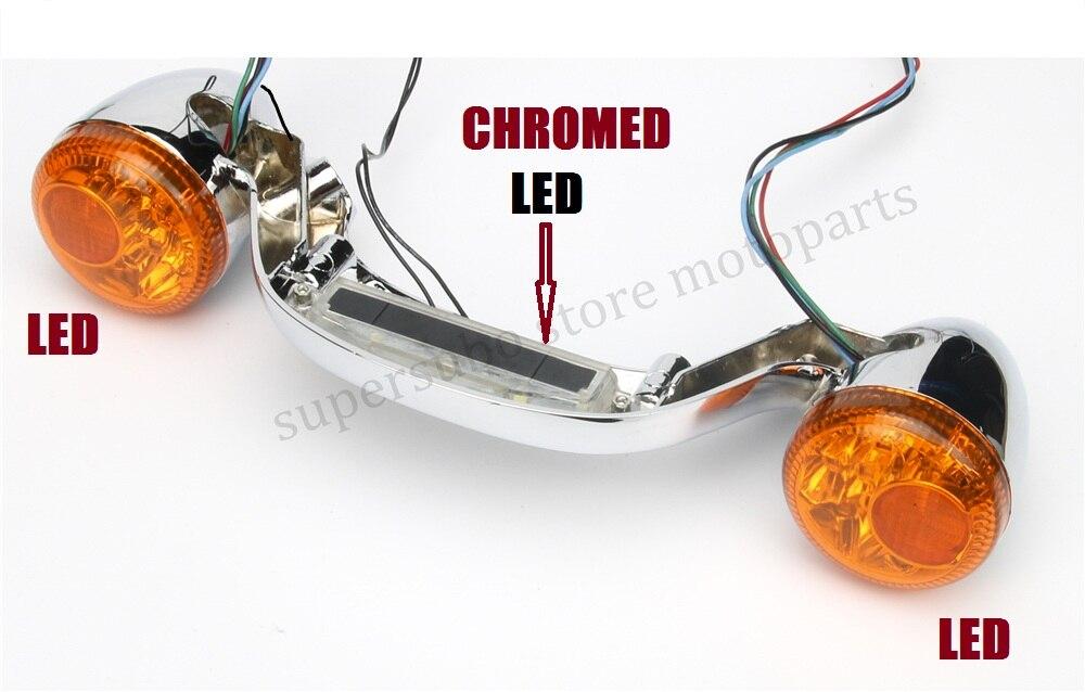Chrome Rear LED Brake Light Turn Signal Bar For Harley Touring Street Road Glide 2010 2016