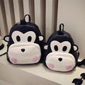 2016 Monkey cute cartoon animals backpack school bags for girls larger capacity PU backpack high school students bag