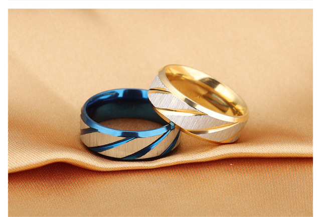 Free Shopping 2017 Trendy Round Ring Fashion Valuable Blue Gold