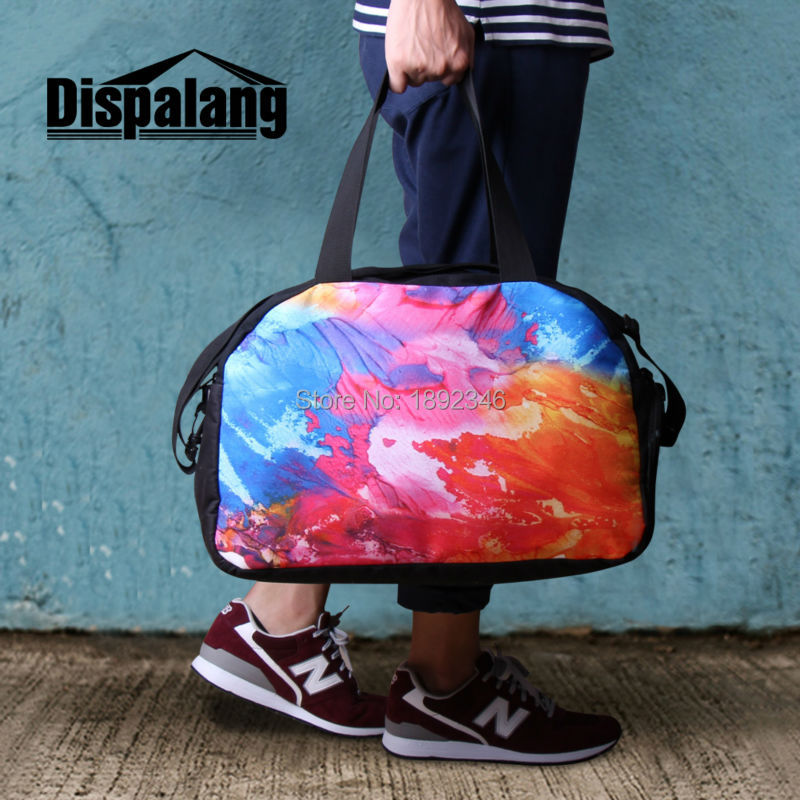 655ac2e066 Dispalang Soccerly Design Men s Large Capacity Travel Bag Tote Luggage Bags  Shoulder Duffle Bags For Boys Overnight Weekend Bag-in Travel Bags from  Luggage ...