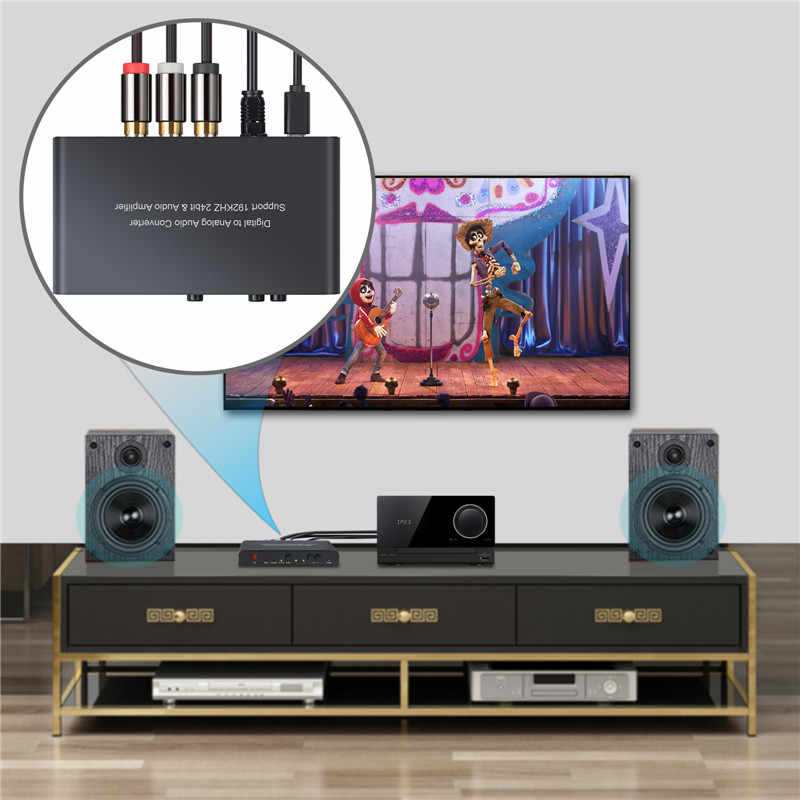 Proster DAC Digitale Ad Analogico Audio Converter Con Telecomando IR di Controllo Ottico Toslink Coassiale RCA 3.5 millimetri Adattatore Martinetti
