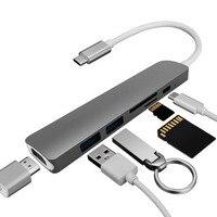 Type C Converter USB Hub For MacBook Pro Thunderbolt 3 USB 3 1 Hub With SD