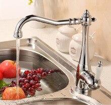 360-градусов вращая mixe tap кухня одной ручкой бассейна кран кухонной мойки смесители на бортике кран