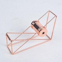 Роскошные розовое золото полые ленты диспенсер резак для малярной ленты васи ленты хранения Организатор держатель клейкой ленты