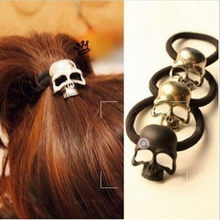Retro Punk Three-dimensional Skeleton Metal Hair Rope Elastic Hair Band Hair Ring for Girl JWD80(China)