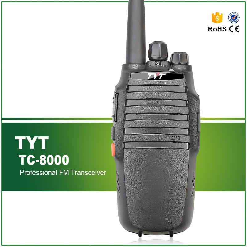Walkie Talkie TYT TC-8000 10W 400-520MHz 16CH 3600mAh Battery Scrambler TOT VOX Custom Side Buttons Two Way Radio