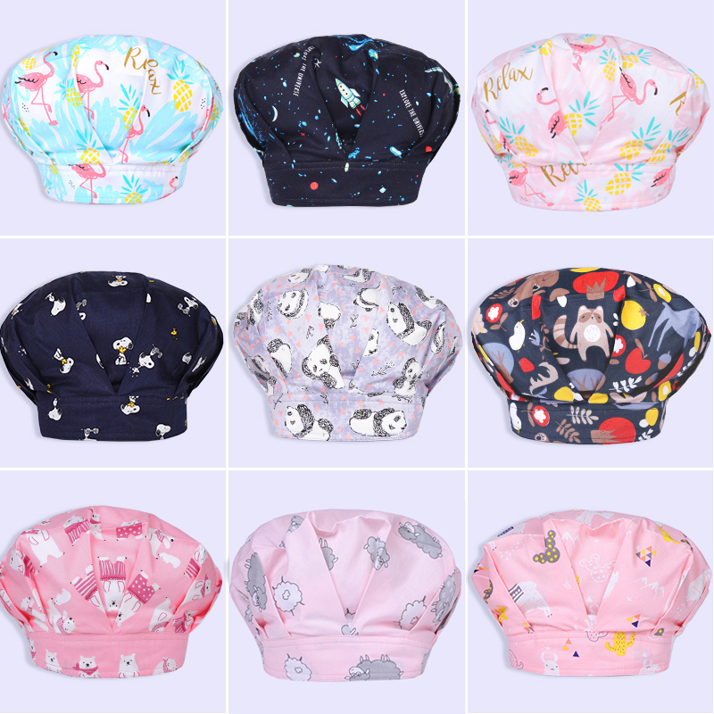 New Wholesale 100% Cotton Hospital Surgery Cap Operating Room Pet Doctor Dental Nurse Hat Medical Doctor Lab Hat Surgical Cap