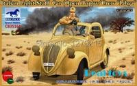 Bronco model CB35164 1/35 Italian Light Staff Car (Open Top) w/Crew Libya plastic model kit