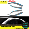 car styling Window Visors For Chevrolet Malibu 2011 2012 2013 2014 Sun Rain Shield Stickers Covers Car Styling Awnings Shelters