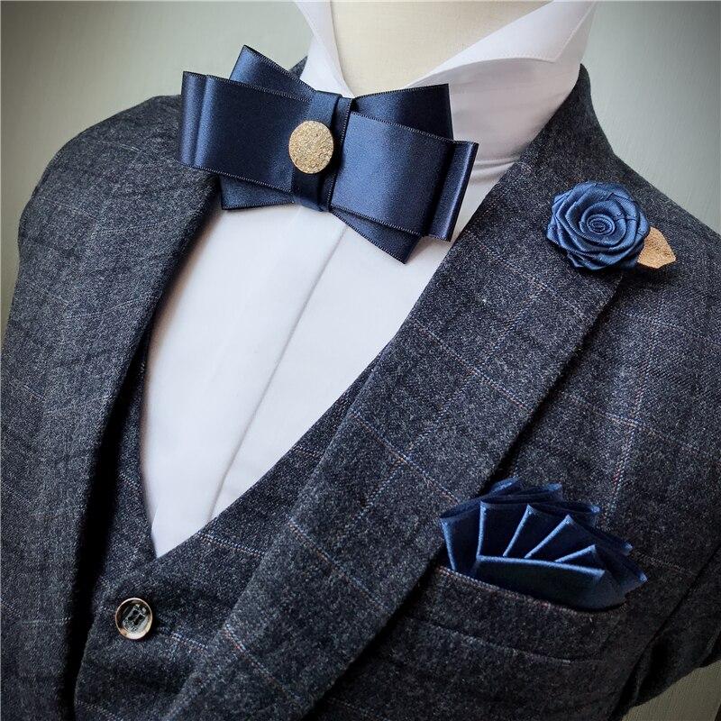 Detail Feedback Questions about 3PCS Men Unisex Bow Ties Rhinestone Brooch  Handkerchiefs Set Wedding Suit Business Christmas Necktie Cravat Pocket  Square ... fca61dbdcd9c