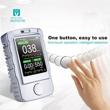 PM2.5 Air Quality Monitor Portable Gas Analyzer Gas Detector CO2 Meter PM1.0 PM10 TVOC Air Quality with Color LCD for Indoor цены