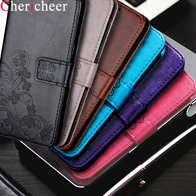 For Microsoft Nokia Lumia 530 535 930 435 532 640 630 635 636 638 Leather Phone Case Four Leaf Clover Magnetic Wallet Cover Bag nokia 8 new 2018