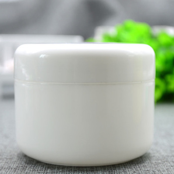 50pcs/lot 250G Empty Plastic white and clear Jar ,Containers Refill Cosmetic Cream Lotion Bottle ,Craft Ointment Travel Tester
