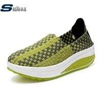 اليدوية النساء عارضة أحذية الفتيات حذاء جديد دروبشيب جودة عالية فقدان الوزن شبكة تنفس أحذية الصيف نمط سيدة أحذية a013