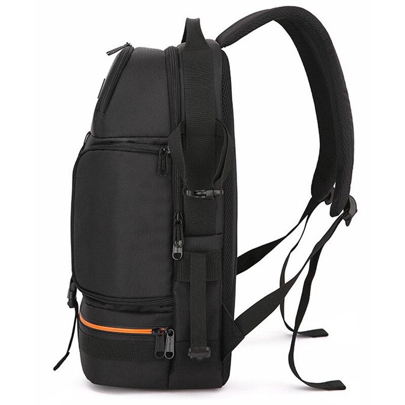 Photo Video Waterproof Shockproof Camera Shoulders Backpack Soft Padded w Reflector Stripe fit 15.6 inch Latptop Tripod Case Bag