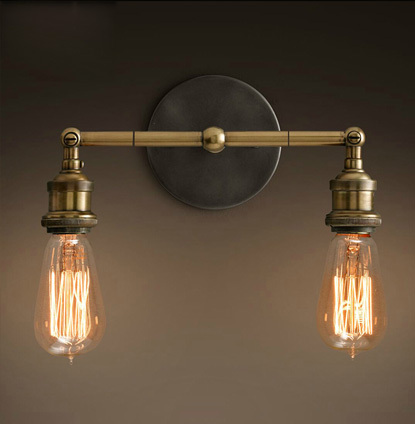 Industrial style restoring ancient ways double wall lamp vintage wall lamp Edison wall light contains Edison bulbs free shipping free shipping 5026l replica designer edison industrial vintage wall lamp