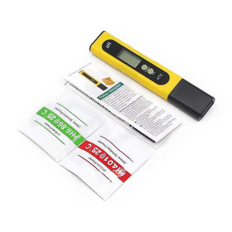 Alta Precisión 0,01 LCD Digital medidor de PH probador para alimentos, la piscina del acuario hidropónico tamaño de bolsillo medidor de PH LCD de gran tamaño pantalla