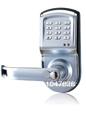 Reversible Silver Smart Digital Electronic Keypad Lock | Keyless Door Lock with Single Latch for Commercial Buildings villas reversible silver smart digital electronic keypad lock keyless door lock with single latch for commercial buildings villas