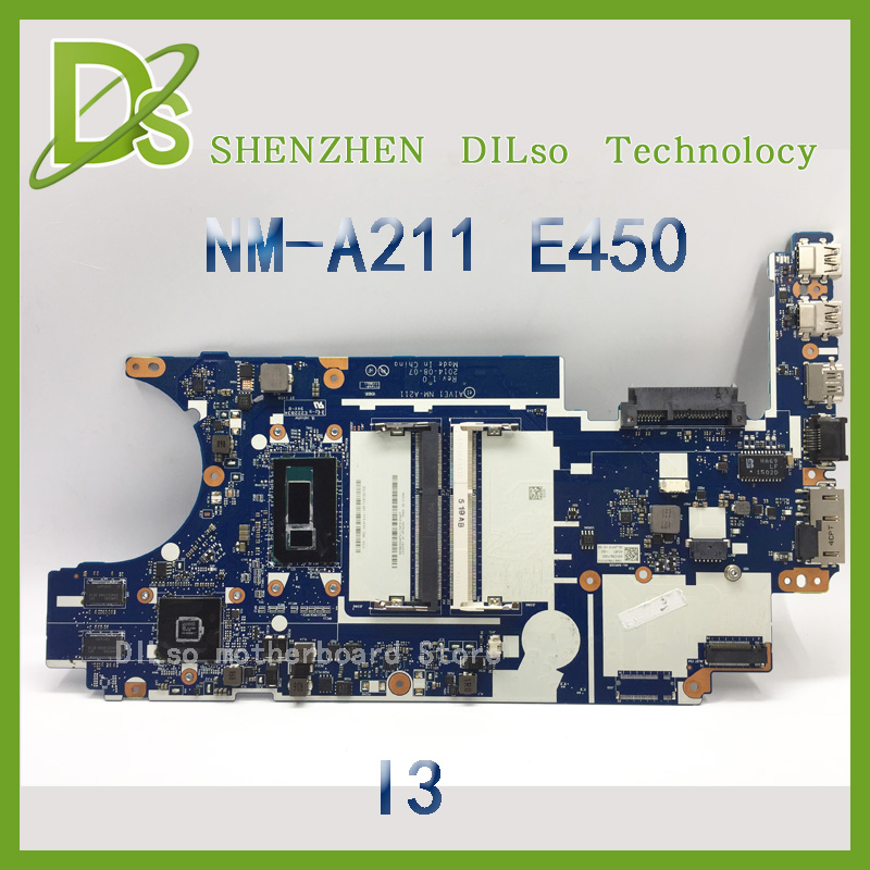 все цены на  For Lenovo AIVE1 NM-A211  E450 laptop motherboard ThinkPad Edge E450 mainboard rev1.0  100% tested with i3 cpu gaphics card  онлайн