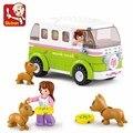 Lego Compatible Genuino Amigos Camioneta Bloques de Construcción SLuban Sueño Serie 0523 Viajes Coche Niños Juguetes Para Niñas