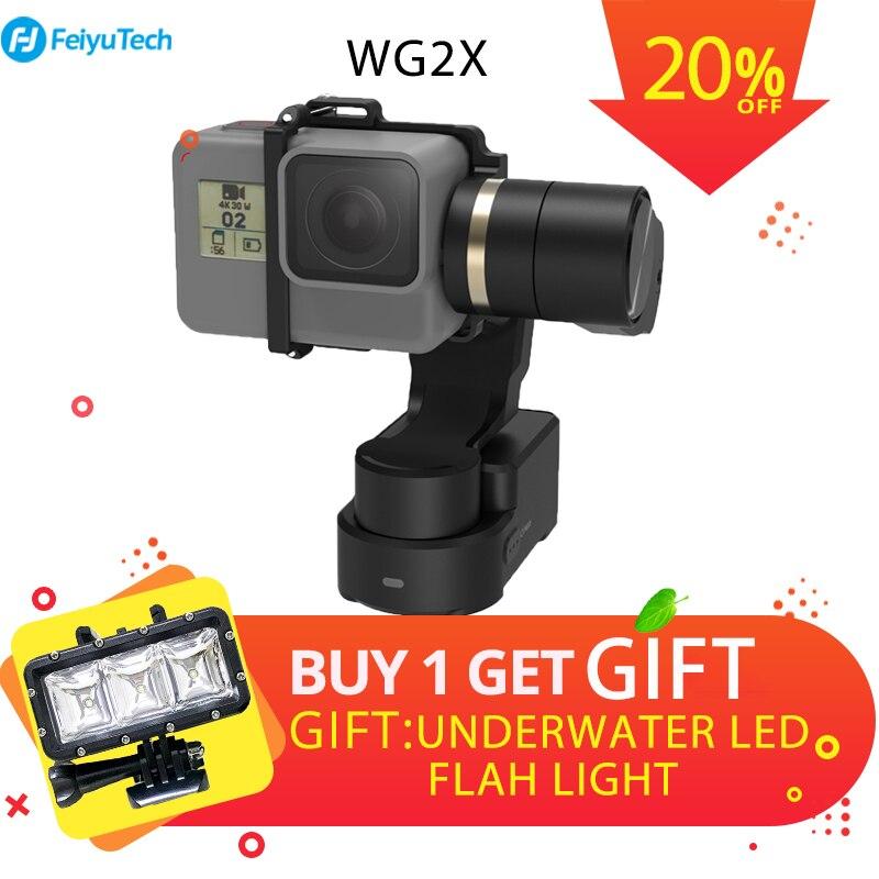 FeiyuTech WG2X 3-axe Portable Cardan Splash Preuve Stabilisateur pour GoPro Hero 7 6 5 4 Sony RX0 YI 4 k SJCAM AEE Camera Action