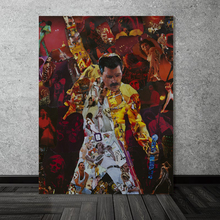 Freddies Mercuries Queen Collage Canvas Painting Print Living Room Home Decor Modern Wall Art Oil Poster Salon Pictures