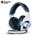 Sades SA-903 Gaming Headset 7.1 canais de Som Surround USB Wired Fone De Ouvido com Controle de Volume Mic Melhor casque para Gamer