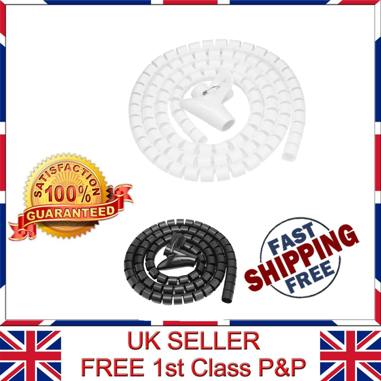 New 9mm Black 4:1 Pitch Spiral Binding Coil Free Shipping 100pk