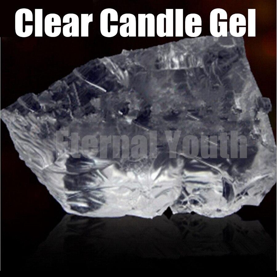 Bougies en cristal de matière première de bougie claire Gel transparents 1000g