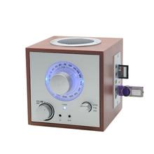 Деревянный радиоприемник, AM/FM радио с Bluetooth+ TF+ sd-карта+ Функция USB