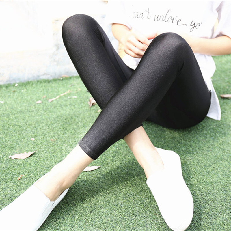 Fluorescent Color High Elastic Women Leggings Pant Multicolor Shiny Glossy Legging Trousers 20Color Casual Clothing For Women