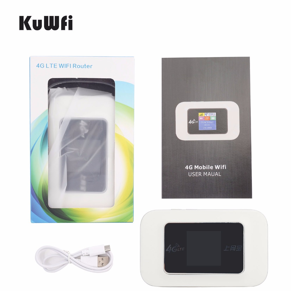 Image 3 - KuWFi Unlocked Mini 4G WIFI Router 150Mbps Wireless LTE Router Mobile WiFi Hotspot 3G 4G WiFi Router With SIM Card Slot-in 3G/4G Routers from Computer & Office