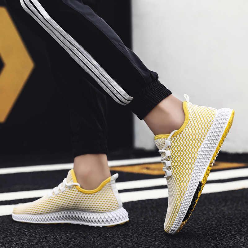 2019 ฤดูร้อนผู้ชายรองเท้าวิ่ง Flywire ผ้ารองเท้าผ้าใบผู้ชายกีฬาการฝึกอบรม Light ขี่รองเท้าผู้ชายรองเท้าผ้าใบจัดส่งฟรี