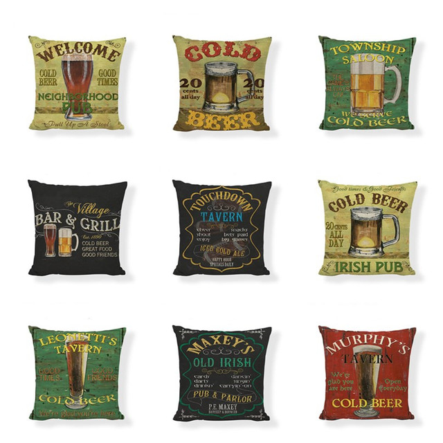 Vintage Bar Cushions