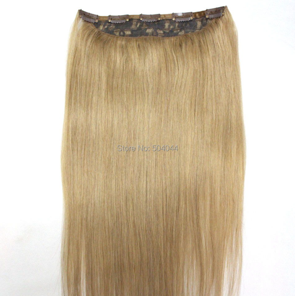 "16""-32"" 1Pcs Set Single Hairpieces 100% Brazilian Human Hair Clips In/on Extensions #18 70g 80g 100g 120g 140g 160g"