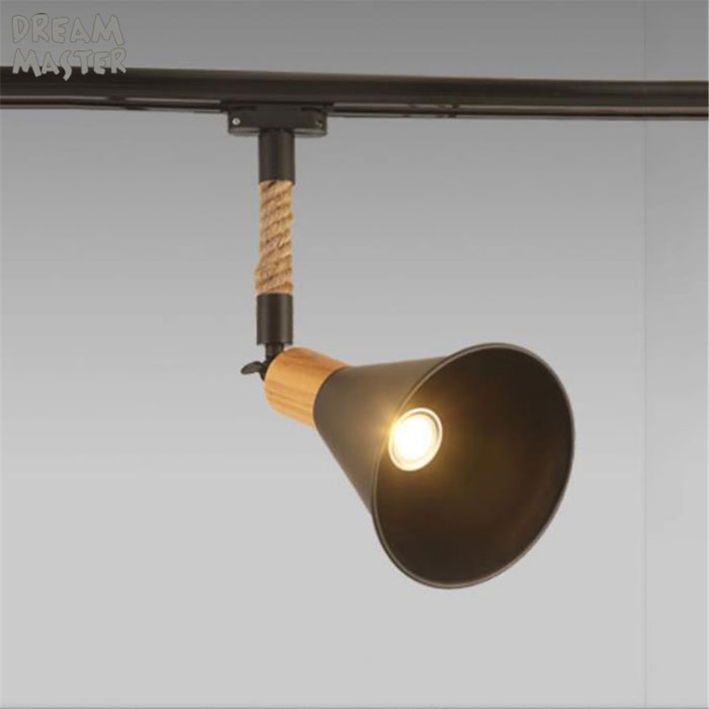 Retro 10W E27 Track Light Spotlights Minimalist LED Ceiling Lamp Lighting Clothing Store Art Decoration Bar Shop Living Room personalized clothing store track lamp
