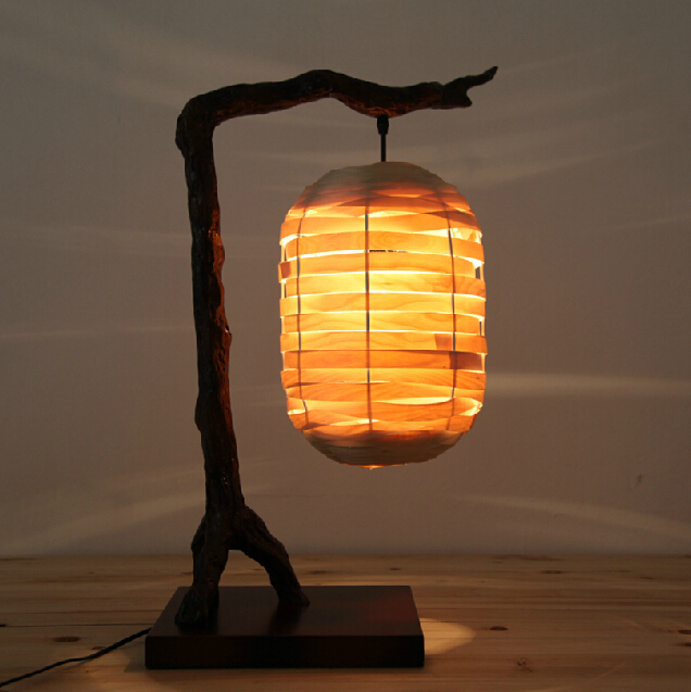 New chinese style restoring ancient ways american wood - Traditional table lamps for bedroom ...