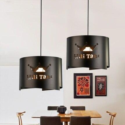 Лофт Стиль Утюг письмо Droplight Простой Современный led подвесные светильники для жизни Обеденная подвесной светильник Освещение в помещении
