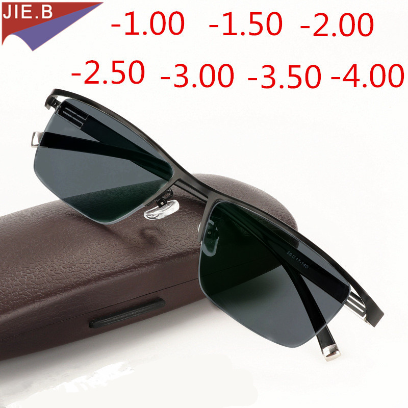 New Myopia Business Photochromic Sunglasses Finished Women Men Myopia Glasses Frame Lenses Myopia Sunglasses Myopia Glasses