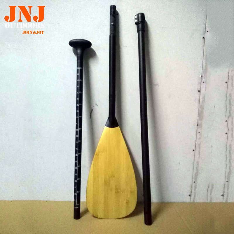 Pagaie en fibre de carbone de 3 pièces de qualité supérieure fabriquée en fibre de carbone