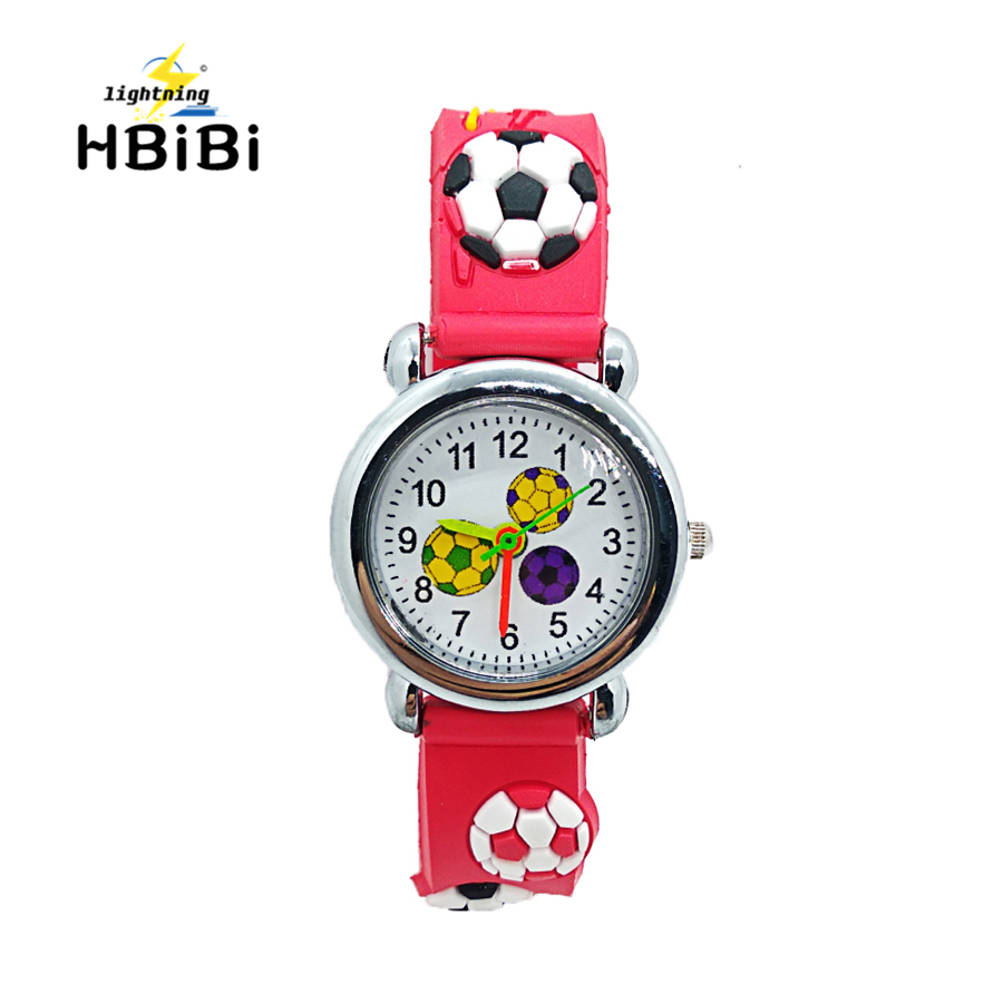 Trustful 3d Cartoon Lovely Football Kids Girls Boys Children Students Quartz Wrist Watch Very Popular Wristwatches Clock Style Easy To Repair Watches