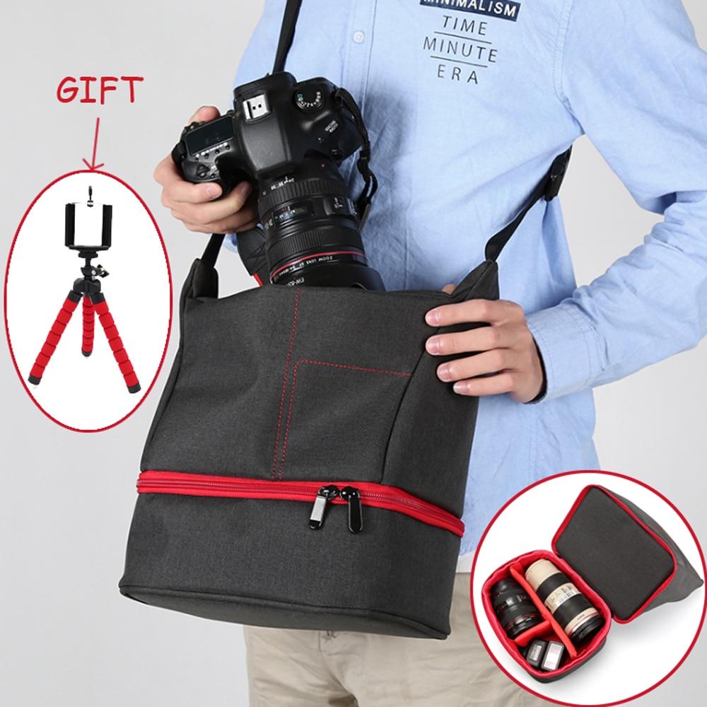Bolso de la Cámara de la foto de la cámara SLR DV bolsa impermeable bolsa de viaje hombro cámara portátil caso DSLR foto mochila fotográfica