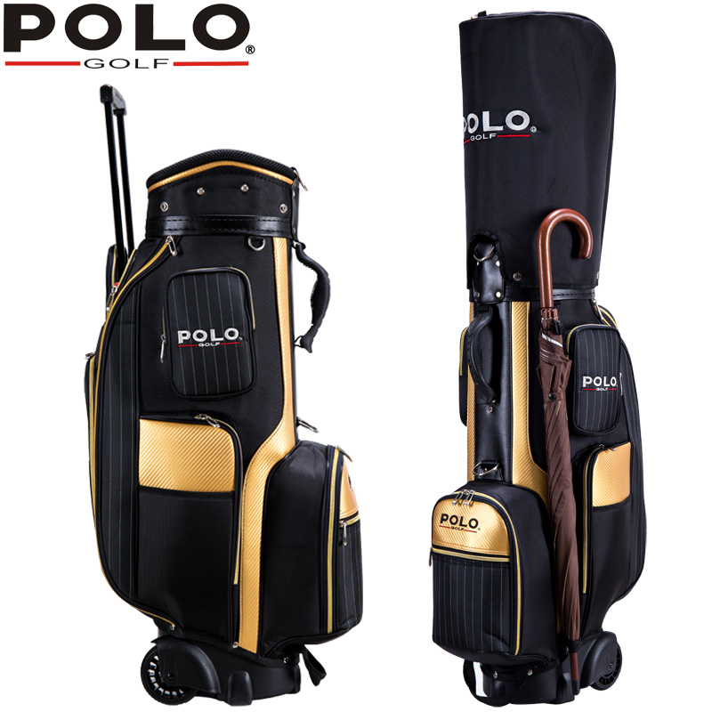 Famous Brand Golf Travel Wheels Standard Stand Caddy Bag Complete Golf Set Bag High Density Nylon golf cart bag staff golf bags mizuno aerolite x golf stand bag white royal